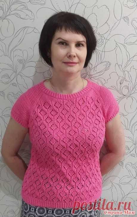 Розовый топ спицами - Вязание - Страна Мам