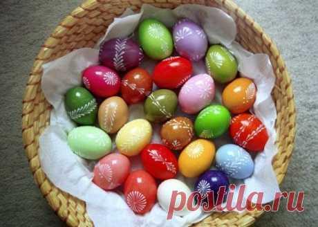 Идеи оформления пасхальных яиц / Простые рецепты