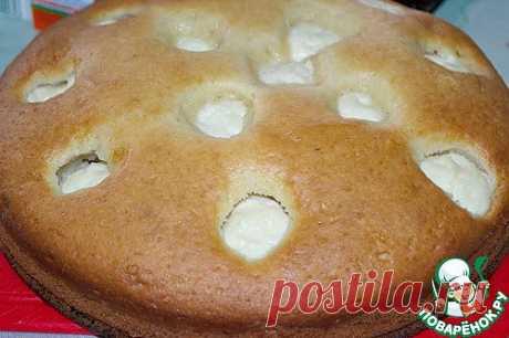 Пирог на кефире с творогом - кулинарный рецепт