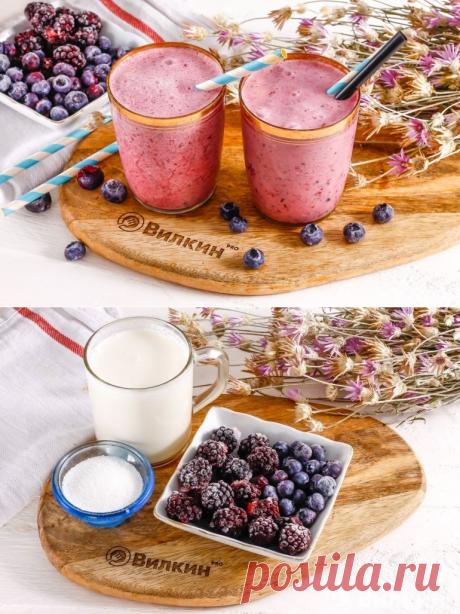 Смузи из замороженных ягод в блендере - рецепт с фото пошагово