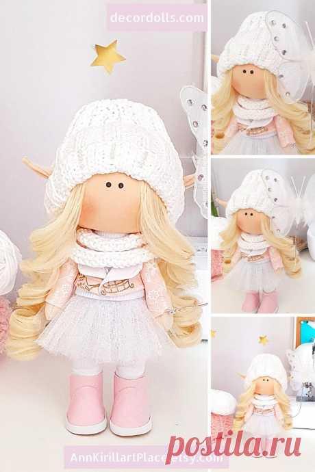 Winter Doll Handmade Tilda Custom Doll Doll Gift for Girl | Etsy