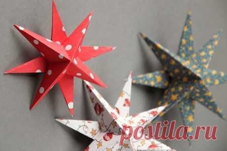 Делаем 3D-звезду своими руками: мастер класс | Высоцкая Life