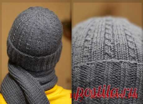 Мужская шапка спицами узором «Мелкие косы» - Колибри Не опять, а снова к вашему взору предлагаем новичкам ученицам рассмотреть вязаную на спицах шапоч