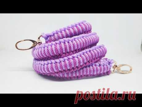 Cara membuat handle panjang untuk tas tali kur motif jagung
