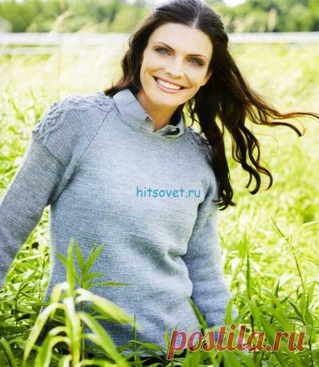 Вязание пуловера с рукавами реглан - Хитсовет Вязание пуловера с рукавами реглан. Для вязания пуловера Вам потребуется: пряжа (100% альпака; 50 г/166 м).