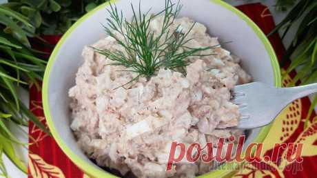 Гениальный салат за 5 минут! Бюджетный салат с рыбной консервой