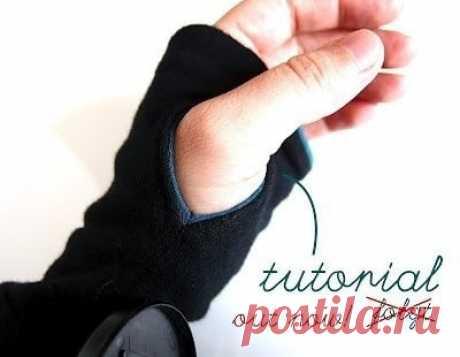 Обработка рукава с отверстием для пальца. #технология_пошива