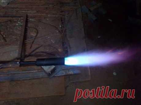 Газовая горелка из куска трубы своими руками