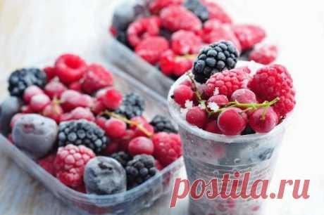 Секреты заморозок на зиму: ягод, фруктов, овощей — Здоровое Долголетие