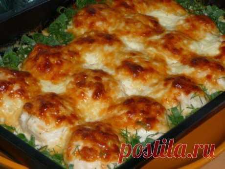 Самые вкусные рецепты: Куриные шарики в сливочно - чесночном соусе.