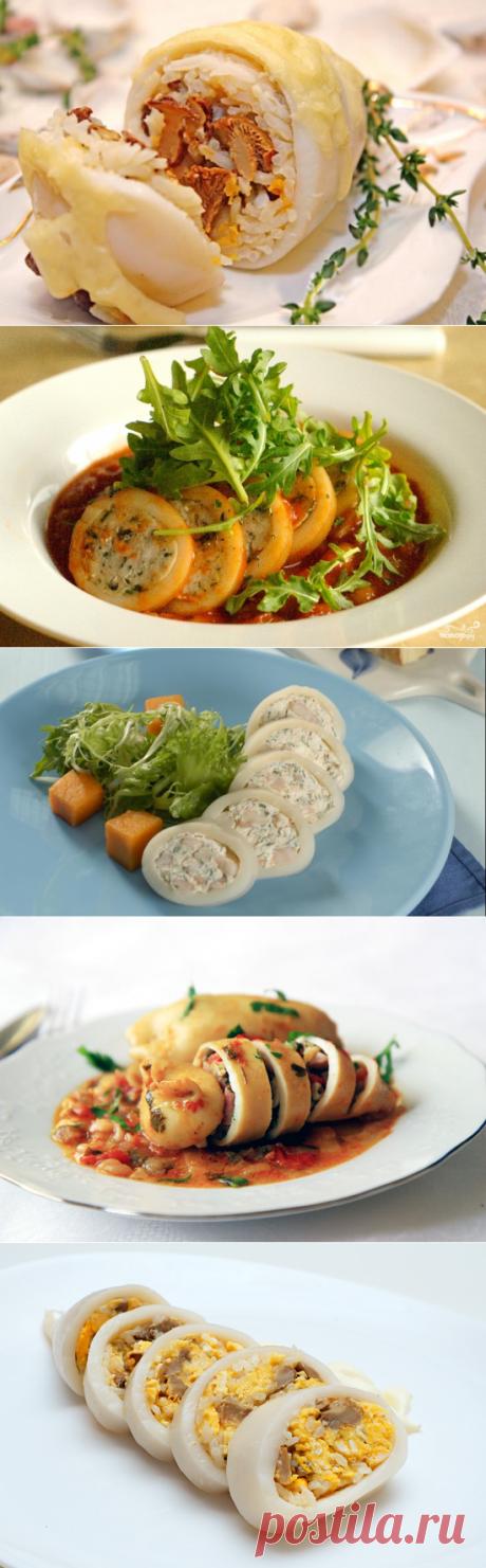 6 рецептов фаршированных кальмаров.