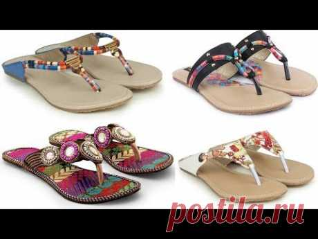 Stylish Flat Slippers For Girls | Girls Sandals With Price Catalogue - 30