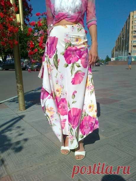 Простая интересная выкройка юбки (мастер-класс) Модная одежда и дизайн интерьера своими руками