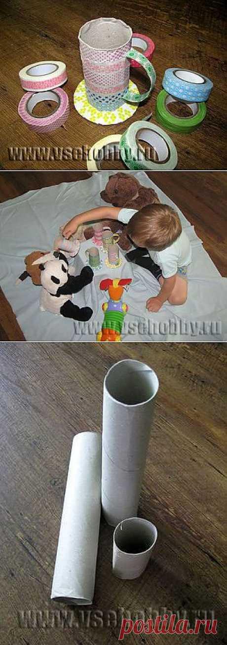 Чашки из рулончиков от туалетной бумаги
