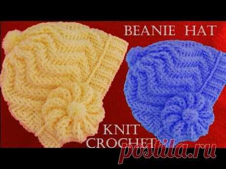 11896c74c2e12 Como tejer gorro boina a Crochet o ganchillo en punto relieve - YouTube