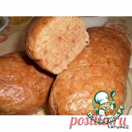 Домашняя печеночно-мясная колбаса - кулинарный рецепт