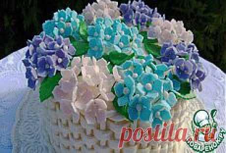 """Торт """"Корзина с цветами"""" - очаровательный подарок на 8 марта!."""