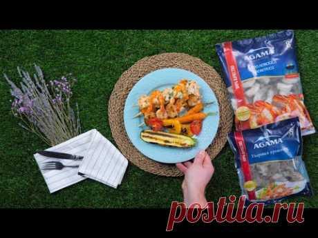 Креветки в чесночном маринаде на шпажках — быстрый рецепт от «Едим Дома»