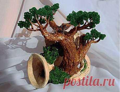 Бисероплетение: деревья из бисера (красивые фото)