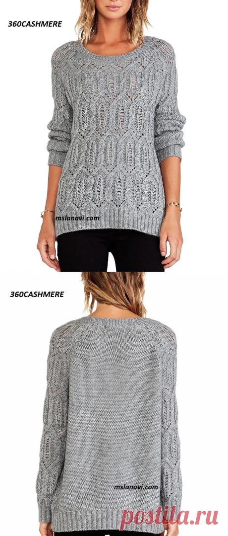 Вязаный пуловер от 360CASHMERE | Вяжем с Лана Ви