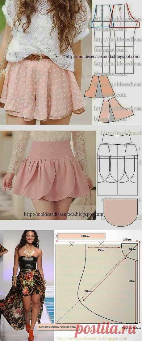 Летние юбки. Выкройки | Умелые ручки