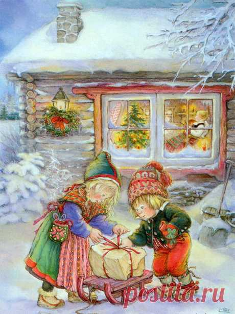 Collection of pictures: Lisi Martin. Winter and New Year's and Christmas