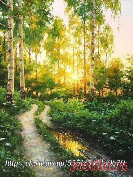 Красота русской деревни в картинах Дмитрия Лёвина
