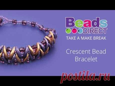 Crescent Bead Bracelet   Take a Make Break with Beads Direct - YouTube