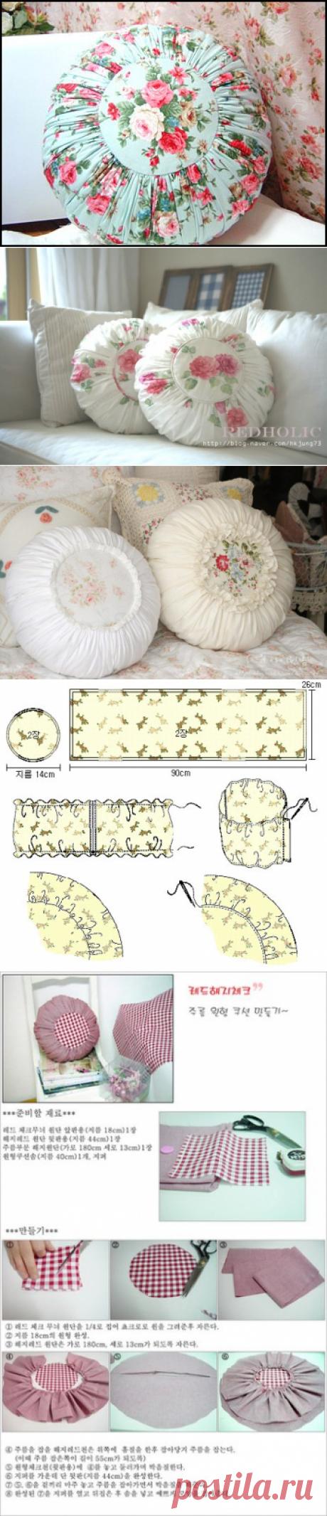 La costura   los patrones simples   las cosas simples. Las almohadas de diván
