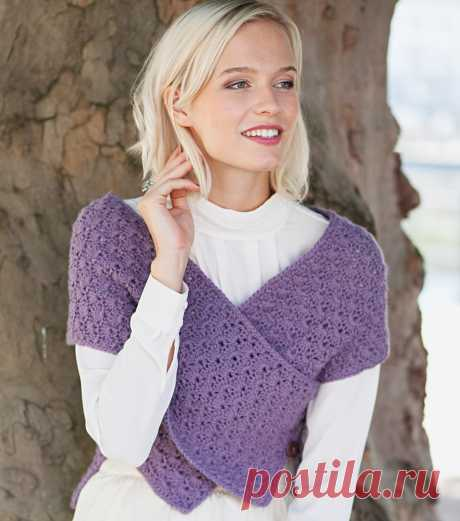 Dushegreyka with an openwork pattern - the scheme of knitting by a hook. We knit Vests on Verena.ru