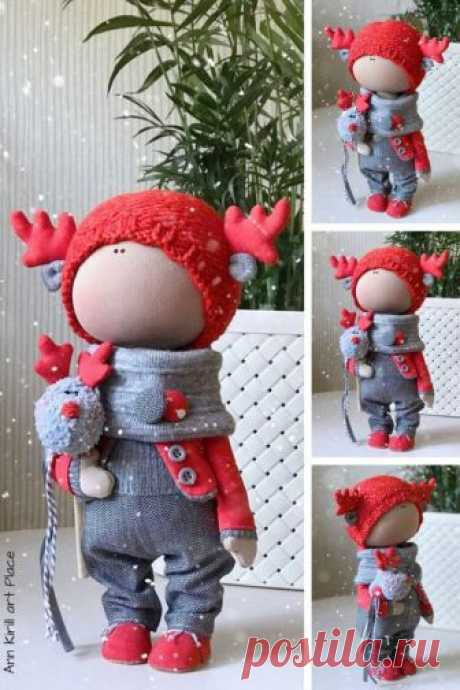 New Year Doll Marry Christmas Doll Winter Decor Doll Fabric   Etsy