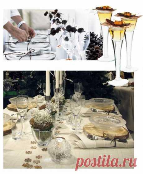 Украшение новогоднего стола: 40 оригинальных идей