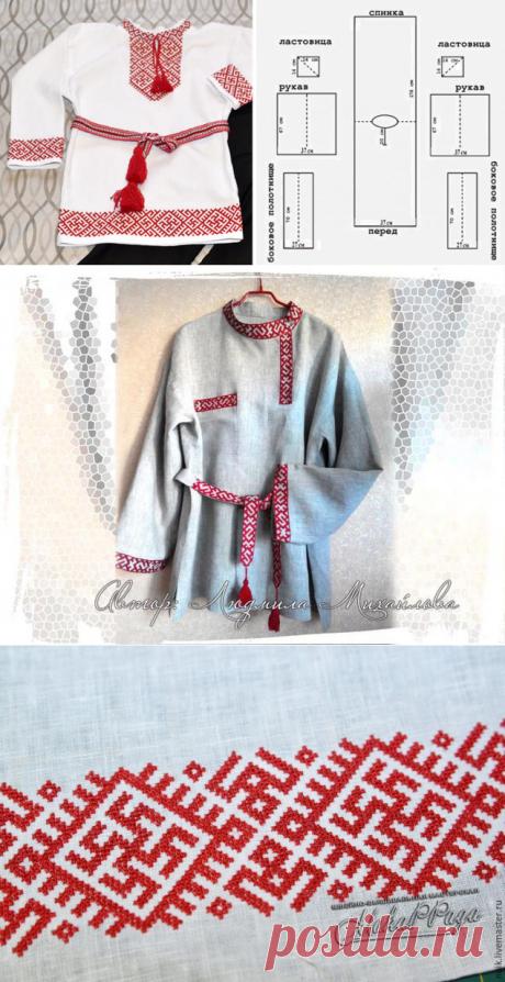 ✔Шьем русскую народную рубаху - Ярмарка Мастеров - ручная работа, handmade