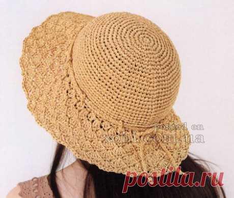 Женские вязаные шапки, шляпки, береты, кепки, панамки и повязки на голову » Страница 2