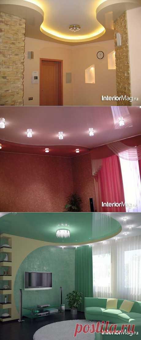 Многоуровневые натяжные потолки - 12 фото | ИнтерьерМаг.ру