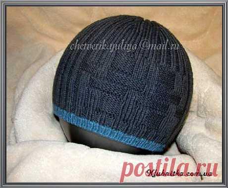 Весенняя шапочка для мальчика 6-8 лет » Клуб-Нитка - вязание спицами и не только