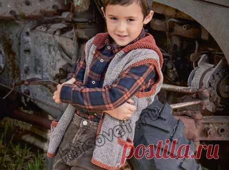 Жилет вязаный для мальчика - Хитсовет