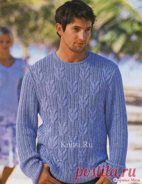 Sweater for the husband (spokes) - Knitting - the Country of Mothers