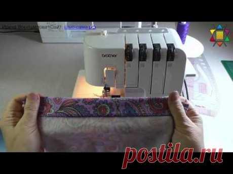 Подшивка юбки потайной строчкой на оверлоке