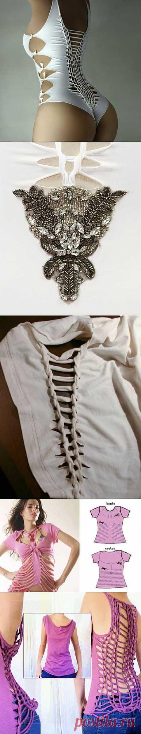 Как переделать футболку и подарить старым вещам новую модную жизнь?