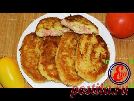 Картофельные зразы с сосисками (колбасой) и сыром