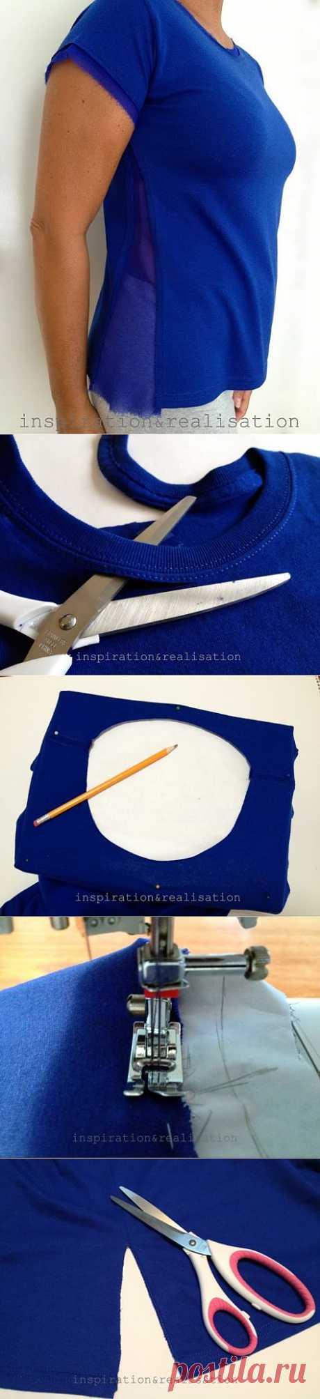 Как увеличить размер футболки (Diy) / Изменение размера /