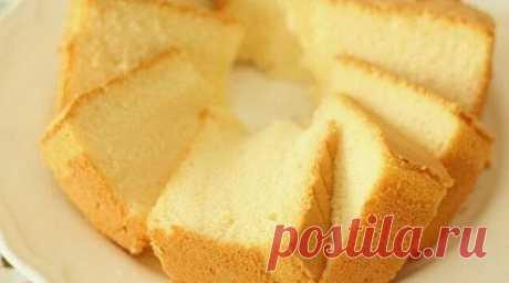 Воздушный и ароматный бисквит из «ничего». Даже яйца не нужны! - Part 2 Этот бисквит получается замечательно нежным и вкусным вообще без яиц!