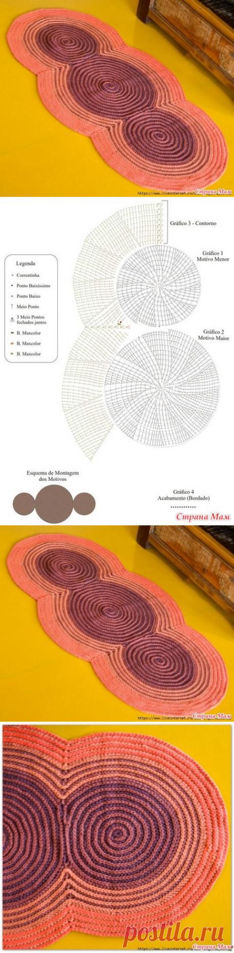 . Оригинальный коврик крючком (идея из интернета) - Вязание - Страна Мам