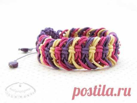 Плетём браслет с детьми — Поделки с детьми