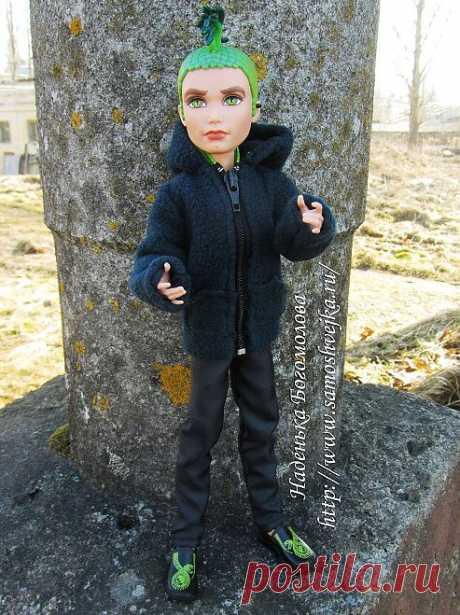 Толстовка для куклы Дьюса Горгона из Monster High (Школа монстров)   Самошвейка - сайт для любителей шитья и рукоделия