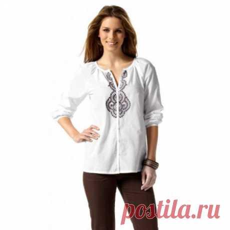 Модные блузки-реглан