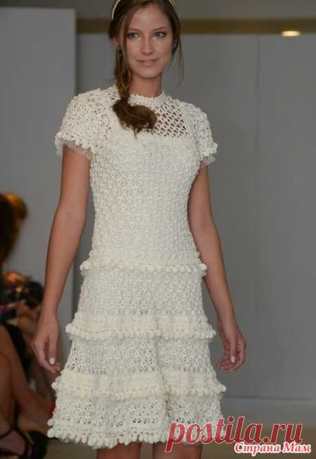. A dress based on Vanessa Montoro. - All in openwork... (knitting by a hook) - the Country of Mothers