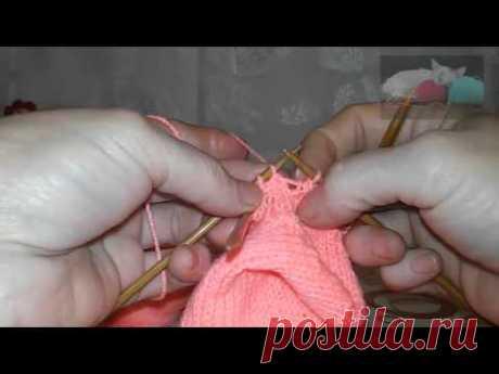 Вязание спицами. Летние Ажурные Носочки. Узор после пятки