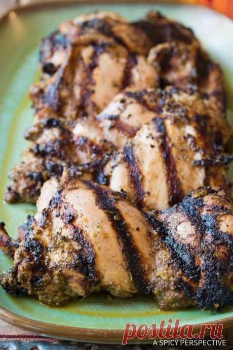Jamaican Jerk Chicken Thighs Quick and tasty Jamaican Jerk Chicken Thighs Recipe. A healthy, faster version of authentic jerk chicken, using boneless skinless chick thighs.